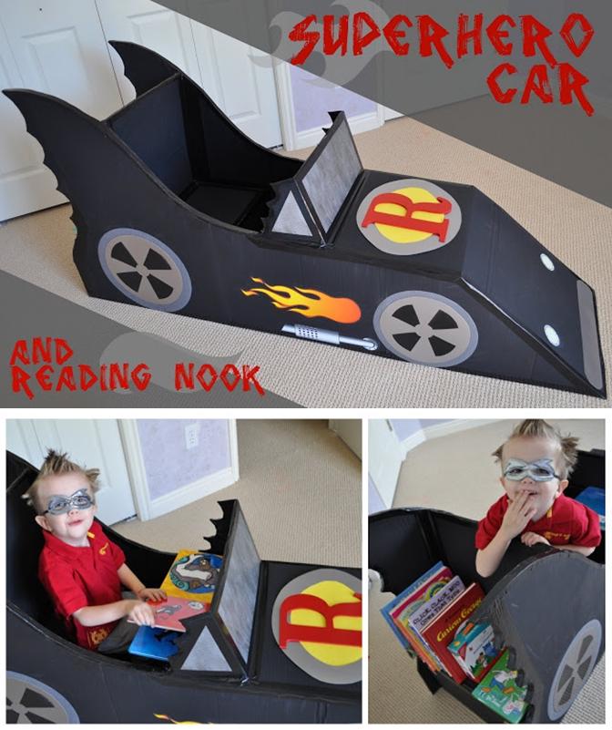 Carro Batman Papelao Faca Voce Mesmo Diy Viajando No Apêviajando